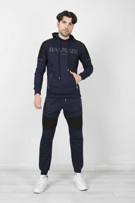 Balmain - Balmain Men Navy Blue Sport Suit