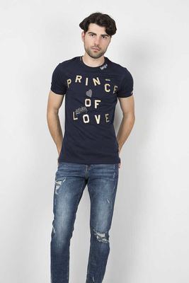 Dolce&Gabbana - Dolce&Gabbana Men Navy Blue T-Shirt