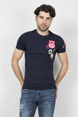 Dsquared2 - Dsquared2 Men Navy Blue T-Shirt