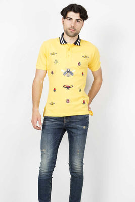 Gucci - Gucci Men Yellow Polo Shirt