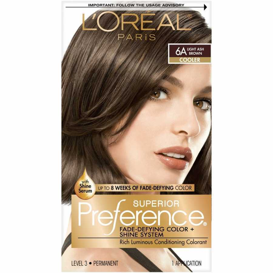Loreal Superior Preference Fade-Defying Color 6A Light Ash Brown - Cooler 1 Application
