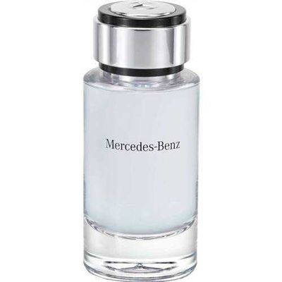 Mercedes-Benz - Mercedes Benz Man Cologne by Mercedes Benz, Launched in 2015, Mercedes Benz Man is a men's aromatic cologne with woody, earthy, and fruity main accords. The top notes are pear and musk mallow or ambrette, followed by middle notes of cedar and geranium. The base notes consist of oakmoss and palisander rosewood. Perfumer Olivier Cresp of Firmenich is the nose behind this fragrance. The flacon is colored with a soft matte black, with the brand's logo up front against a blue background. Glass and metal are combined to create the bottle.