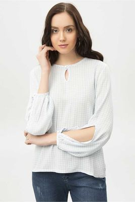 New Laviva - New Laviva Women Baby Blue Blouse