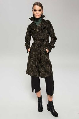 New Laviva - New Laviva Women Green Coat