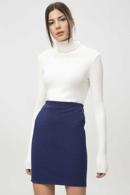 New Laviva - New Laviva Women Navy Blue Skirt