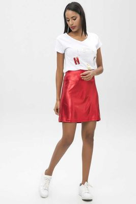 New Laviva - New Laviva Women Red Skirt