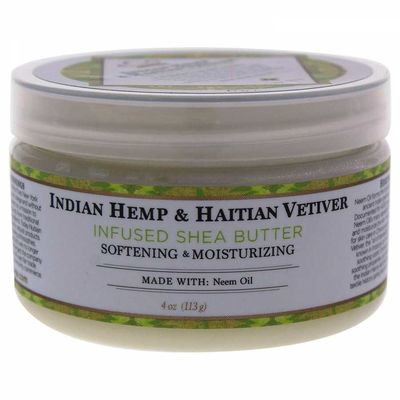 Nubian Heritage - Nubian Heritage Indian Hemp & Haitian Vetiver Infused Shea Butter Softening & Moisturizing 4 Oz